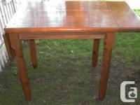 Ideal small apartment size dining table solid pine with