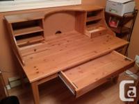 Stellar condition IKEA Alve full wood desk & hutch with