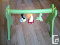 Ikea soft toy nature theme baby gym in bright colours.