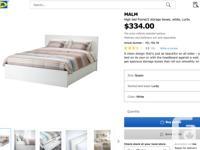 Hi, I am selling a queen bedframe + storage = $180