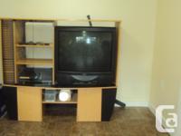 Multi media Centre with 3 front shelves, CD rack, 3