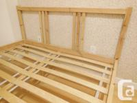 Ikea FJELLSE Bed Frame with Slats - Pine - Full Double