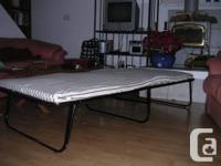 Ikea cot with mattress and cotton mattress cover