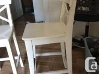 Good used condition white bar stools there are some