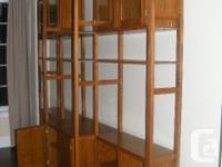 Large collection of IKEA IVAR shelving and cabinets.