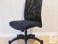 Ikea KARSTEN Swivel Office Chair - Black - fabric seat,