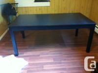 Large IKEA kitchen table with 2 chairs & a bench. Too