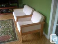 This IKEA Loveseat & Chair would be ideal for a
