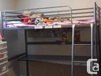 Selling a loft bed with desk top.  Excellent condition