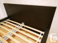 Ikea MALM Bed Frame with Slats - Low - Black Brown -