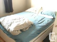 IKEA MALM bed: High, Twin bed with 2 storage boxes