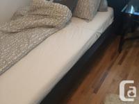 Black Ikea Malm single bedroom set. NO MATTRESS