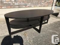 IKEA oval coffee two level table in good used