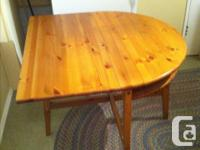 Ikea pine drop leaf table in excellent condition pine