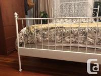 Like new IKEA Leivrik bed and mattress/box spring