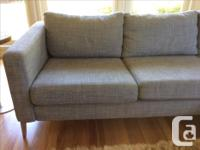 2 years old IKEA karlstad sectional couch with higher