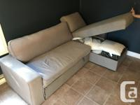 Needs new sofa cover. Very easy bed to set up. Can be