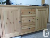 Ikea pine sideboard - Almost new Purchased and