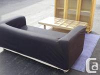 IKEA Sofa with Black Removable Velcro Cover! CHEAP!
