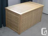 Great sturdy wooden INDOOR storage box which can be