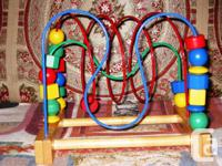 Develops fine motor skills and logical thinking! Wooden