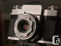 Available for sale is Zeiss Ikon Contaflex 35mm cam.