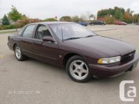 Make. Chevrolet. Model. Impala SS. Year. 1996. Colour.