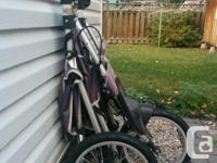 - Quick release pneumatic front tires - Bicycle-style