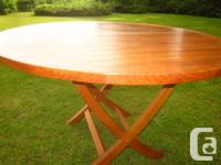 New Solid Teak wood Table $650. Indoors or on the