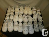 Vintage Babie's, Toddlers Shoes, white Leather Shoes,