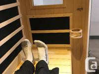 Like new top of the line Radiant Health Infrared Sauna