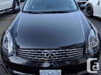 Make Infiniti Model G35 Coupe Year 2007 Colour Black for sale  British Columbia