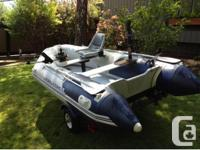 Add an outboard up to 15hp (not included) and this bad