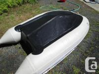 Pontoon boat for 2 1/2 persons rated for 3HP.