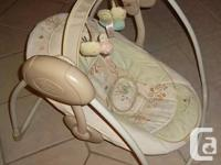 InGenuity by Bright Starts portable baby swing. Three