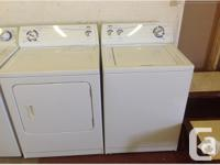 Used Inglis washer and dryer set. 4 years old but both