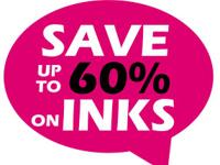 Inkorama can help you to save up to 60% on your ink and