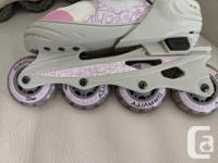 Adjustable inline skates size 1-4 + Elbow and Knee