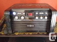 INSIGNIA KARAOKE MACHINE ,COMES WITH 2 MICS. AND 2