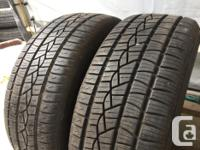 These tires are in good shape They have 80% tread Plus