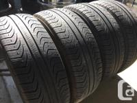 These tires are in good shape They have 70% tread Plus