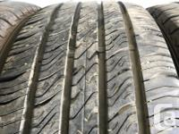 These are very good Quality tires in great shape. 75 to