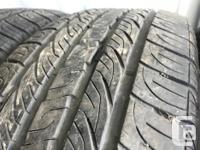These tires are in good shape They have 80% tread 9/32
