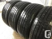 These tires are in good shape They have 60% tread Plus