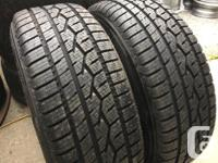 These tires are in NEW Condition They have 99% tread