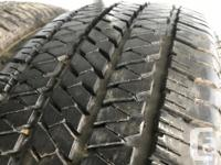 These tires are in excellent shape , They have 99%