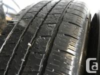 These tires are in good shape They have 70 to 80%