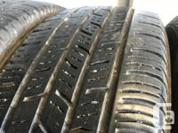 These tires are in good shape They have 60 to 70%