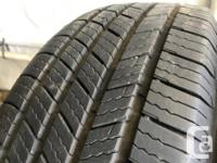 These are very good Quality tires in great shape. 85%