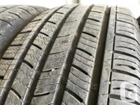 These are very good Quality tires in great shape. 90%